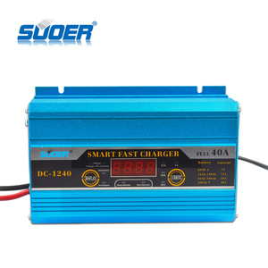 Suoer Fully Auto Digital Charger 12V 40A Smart Fast Automatic Battery Charger