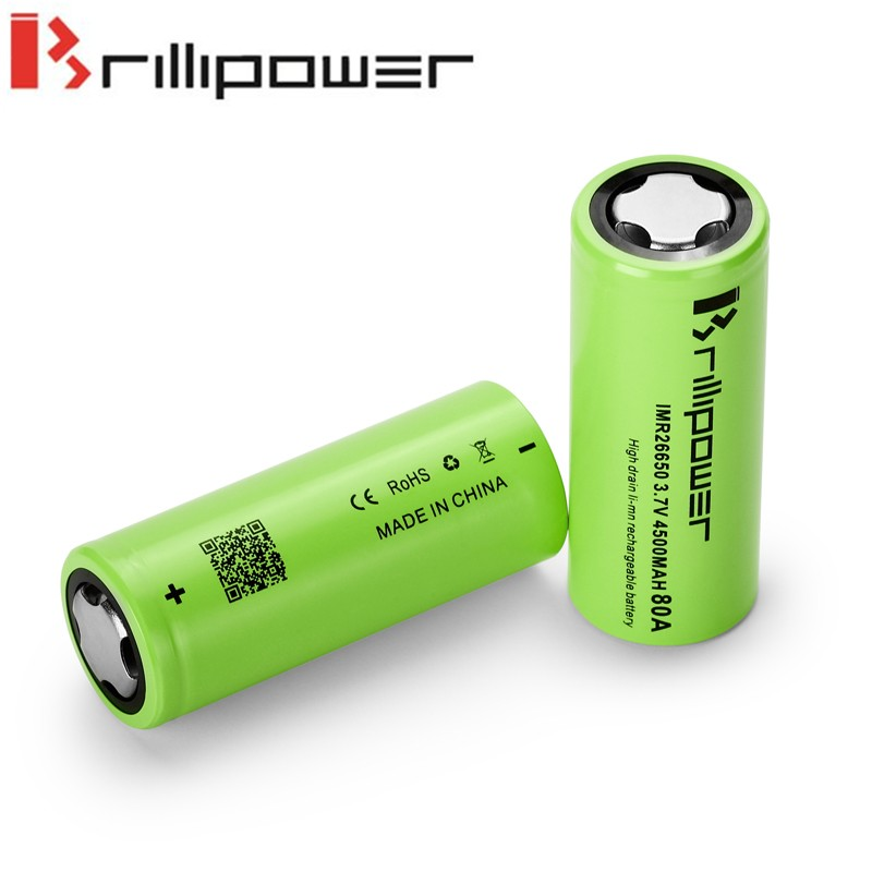 Brillipower 80a 4500mah 26650 battery regulated box mod 26650 battery Wismec Presa tc 100w Mod Single 26650 box mod vt 75