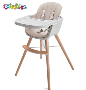 Best price factory wooden baby Kids highchair EN14988 baby feeding high chair /