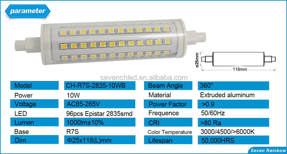 R7s 118mm 300w Halogen Led Replacement 360 Degree 189mm