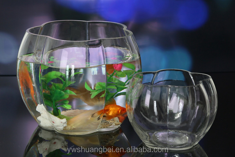 Mini Fish Tank Glass Fish Bowl Decoration Aquarium Fish Tank Table ...