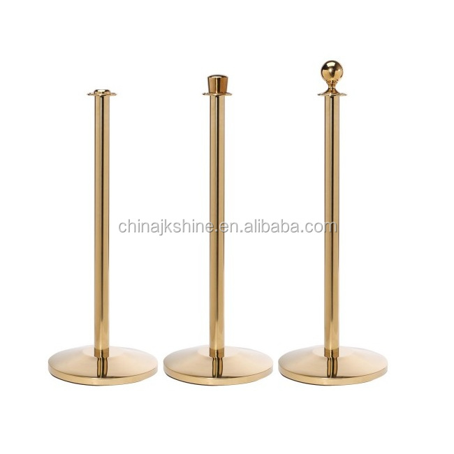 Elegant Good Quality Queue Railing Post Stanchions Metal Lobby Stand Barriers and Ropes For Hotel