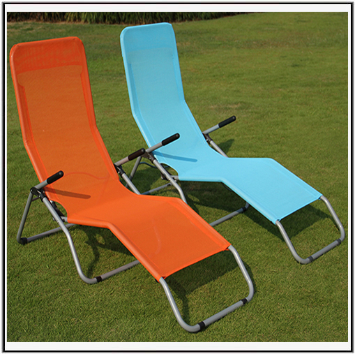 special design aluminum folding webbed lawn chair chaise lounge with low price