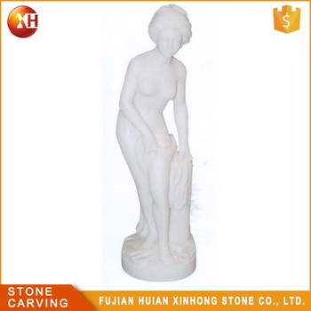 White Little Shy Naked Girl Garden Statue Manufacture