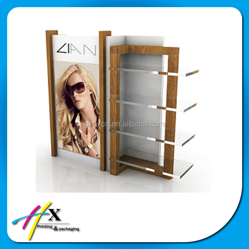2016 modern colorful optical store design with eyewear display stand and wall mounted eyewear display
