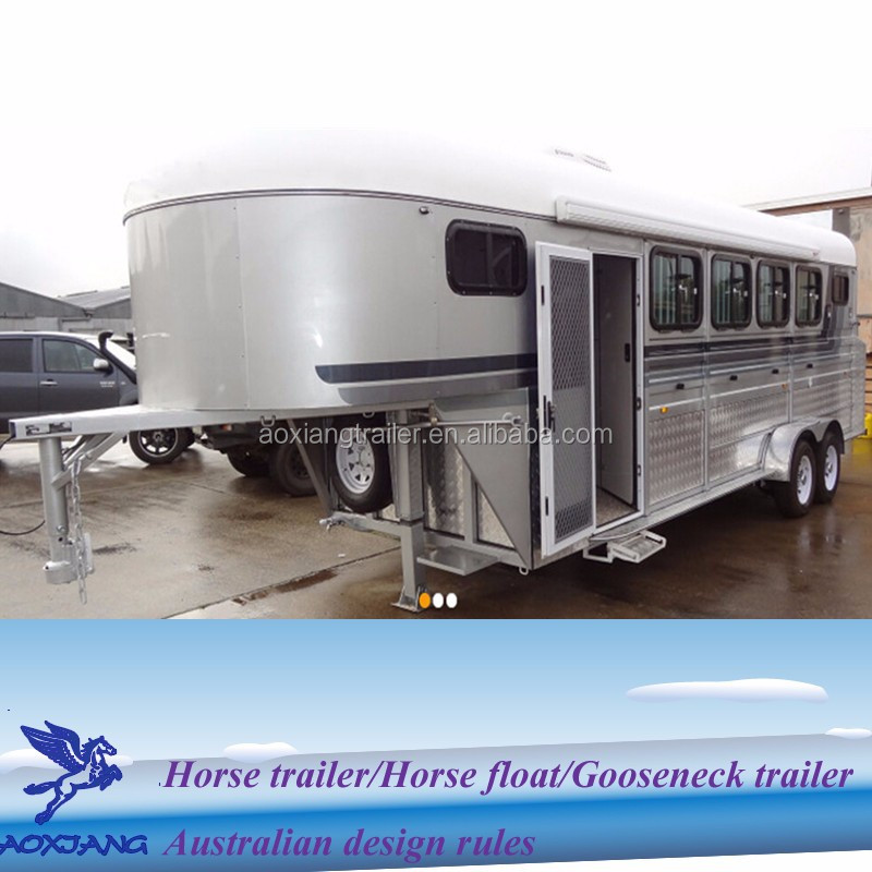 China OEM gooseneck horse camper trailer with living quarter,gooseneck float