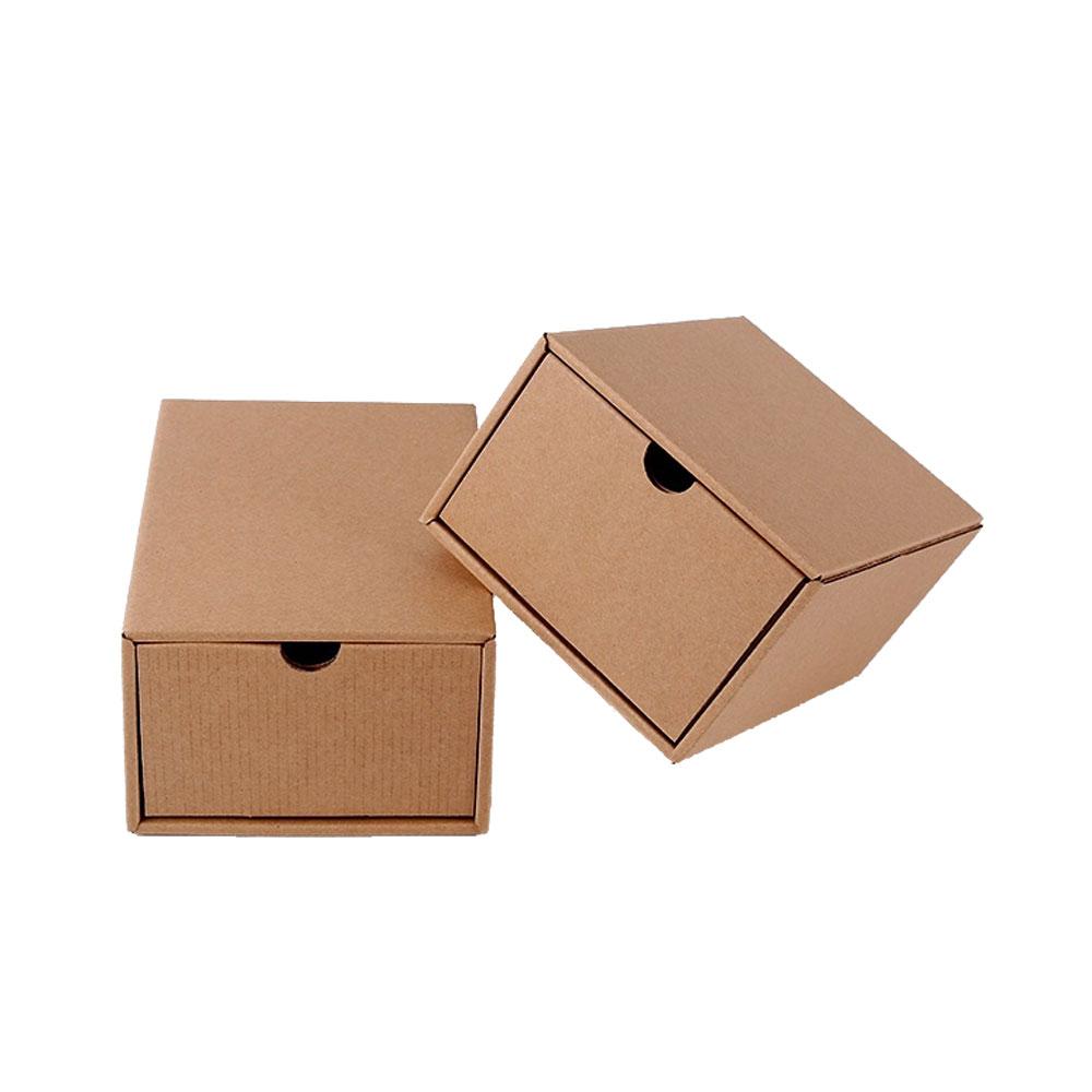 いいえロゴクラフト紙段ボール靴箱包装で引き出し