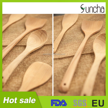 Wood utensils Tasting spoon Soup ladle and All purpose turner Wooden kitchen utensil turner set