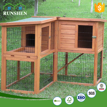 Two Tier Rabbit Hutch Animal Cage Houses Outdoor View Larger Image