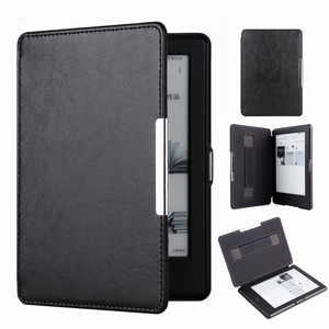 Amazon Kindle 8 Case Small Hand-hold Adsorption Thin E-book Leather Cover
