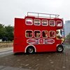 Attractive children amusement equipment trackless train tourist bus for sale electric battery double deck tourist bus
