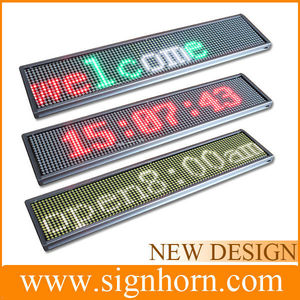 Shops display advertising windows hanging indoor 12v led car message moving scrolling sign display