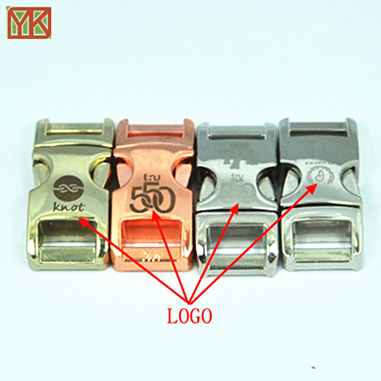 Metal side release buckles curved metal buckles for backpack