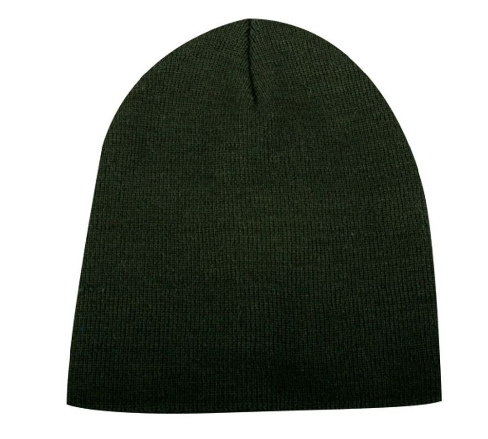 1b4f0bad56224c Get Quotations · Solid Hunter Green Smooth Textured Beanie Knit Stocking Cap  Skully Winter Hat