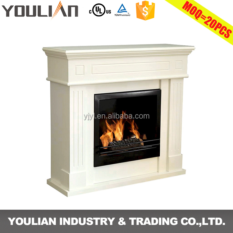 Factory direct wholesale lowes mdf ethanol fireplace mantel surrounds