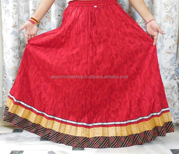 c1724ab4e Ladies Fashion New Design Skirt Cotton Red Color Skirt - Buy Latest ...