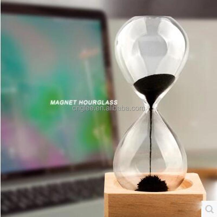 Desktop Magnetic Decorative Wooden Hourglass Buy Decorative - Decorative-hourglass