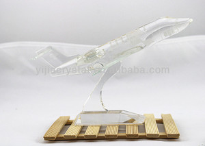 Big Collectible Crystal Airplane For Desk Decoration/Business gift/Souvenir