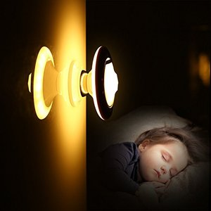 Magnetic UFO Shaped LED Motion Sensor Night Light with Wireless LED and Auto Mode PIR Motion Sensor