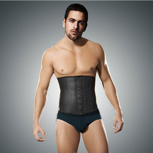 0ac600aa45 hot sport gray latex slimming waist cincher for men walmart