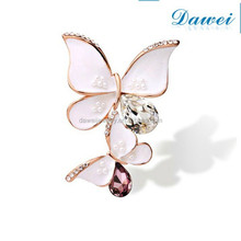 Fast Delivery crystal butterfly brooch pins