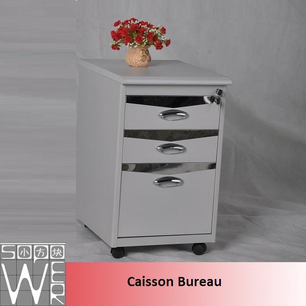 caisson bureau metal alinea blanc laqu discount autres. Black Bedroom Furniture Sets. Home Design Ideas