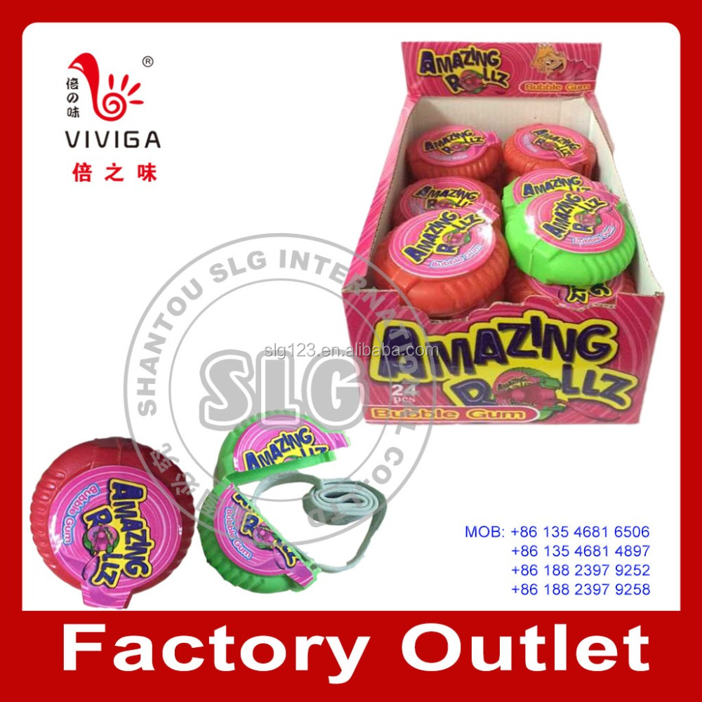 10g fruit tape roll bubble gum