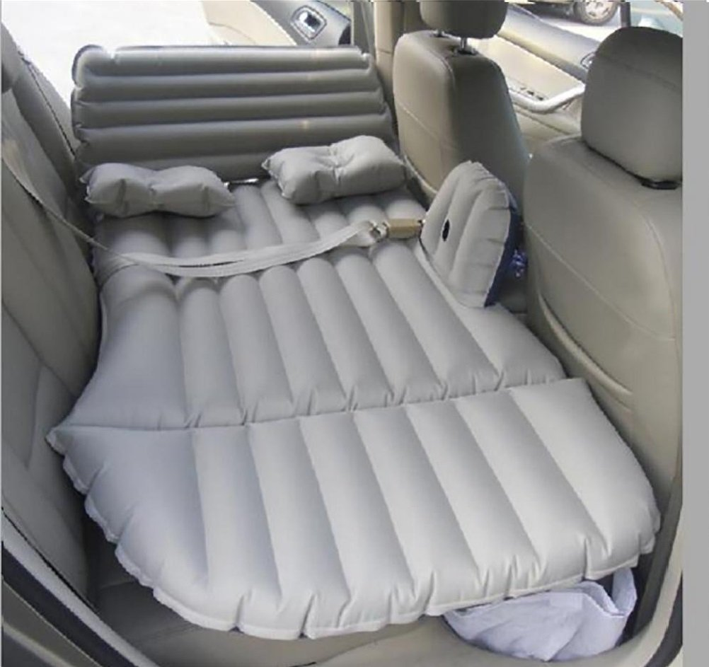 Z9CTHDF25JL Car Inflatable Cushion/Multifunctional Inflatable Mattress/Car Inflatable Bed/Travel Inflatable Bed Camping car Rear seat/Add Mattress/with seat Belt, 2 Pillows,