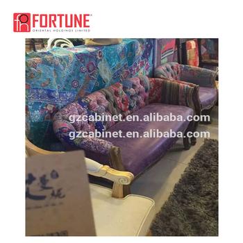 European Style Vintage Leather Sofa Bed