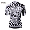 KEMALOCE skull wholesale men cycling jerseys clothing for men sublimation sports bike wear shirts