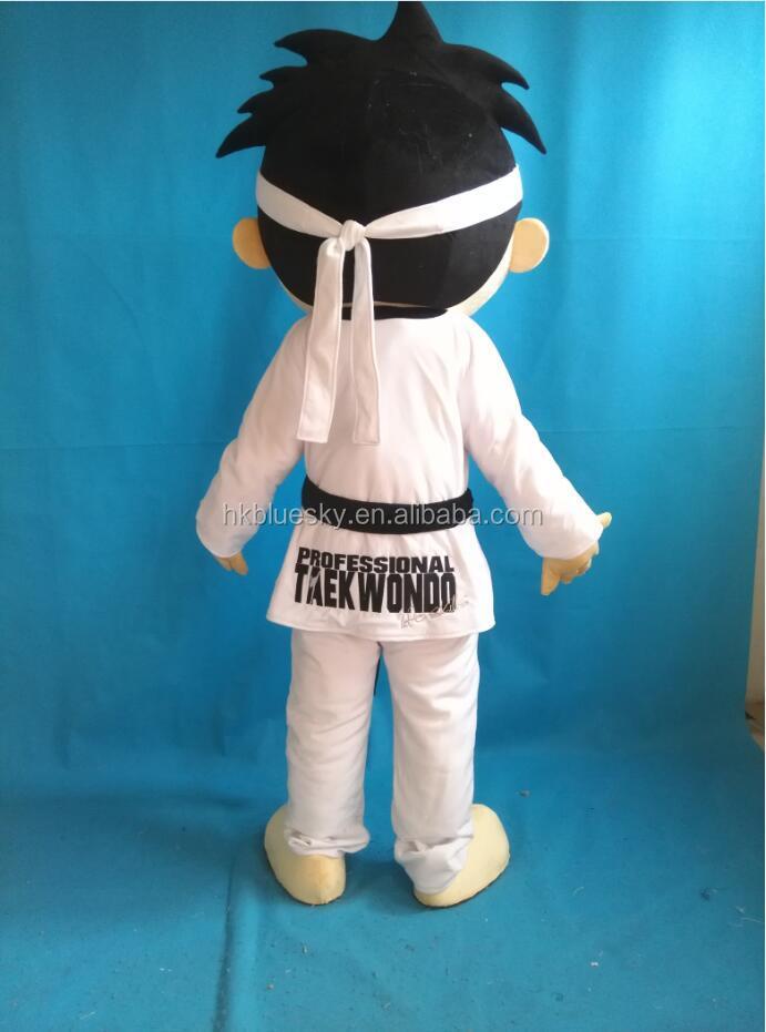 Adulto personaggio dei cartoni animati cartoon judo ragazzo