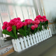 Customized size rose plastic kissing balls decorative artificial flower balls