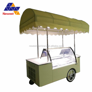 low price stainless steel ice cream freezer/ice cream bicycle cart/snack vending truck