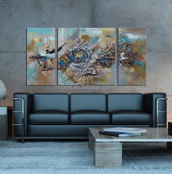 Modern Abstract Oil Painting Hand For Living Room Part 43