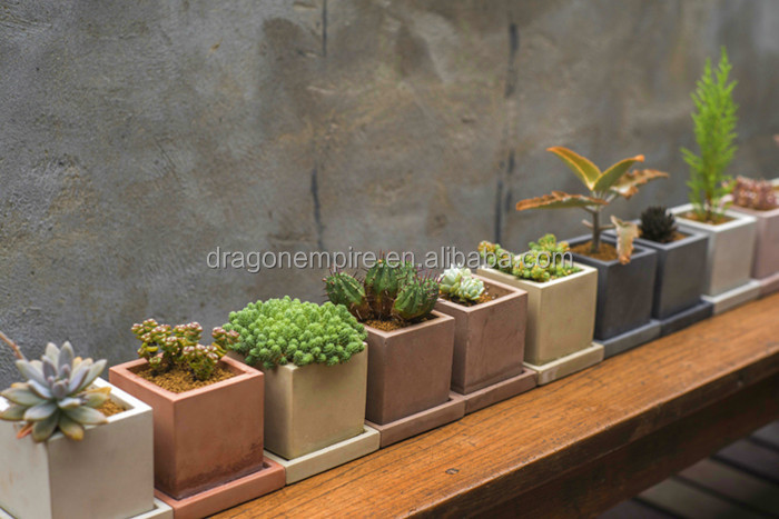 grande gris concret maceta gris hormign plantadores cuadrados gris hormign jardineras rectangulares - Jardineras De Hormigon
