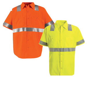 hot sale 100% cotton drill hi vis work clothing