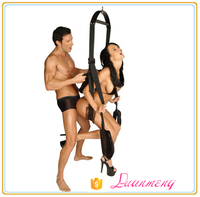 Adult tube toy bondage leopard leather hanging love chair sex swing for female male bondage