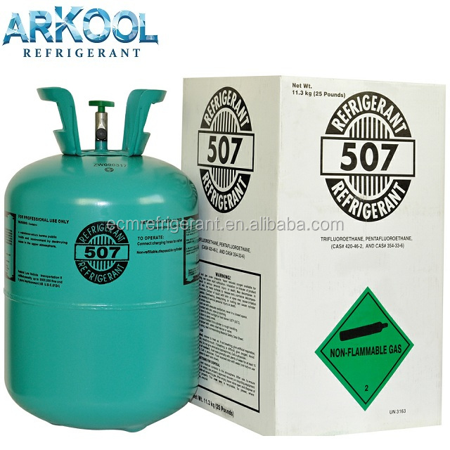 Mixed R507 Refrigerant Gas Used In Air Conditioners ( R134a / R404a /  R407c/ R417a/r600a/r406a/r290/r141b/r402b/etc) - Buy Mixed Refrigerant Gas
