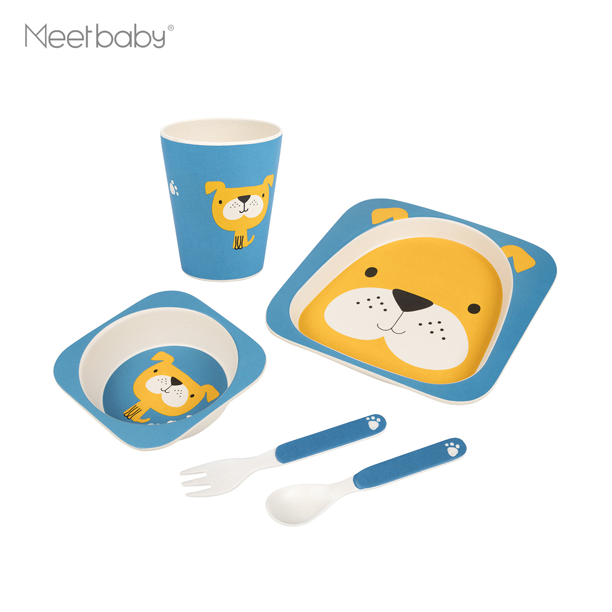 Baby Product:Children Bamboo Fiber Kids Baby Dinner Set/dinnerware set