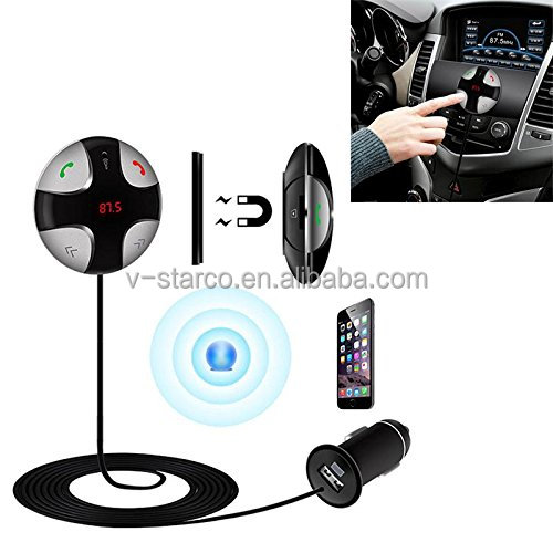 2016 Desain Baru Wireless MP3 Player Bluetooth Handsfree Car Kit MP3 FM Transmitter SD Ganda USB Charger Mobil