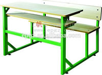 High quality formica board university table and bench, laminated primary reading tables and chairs