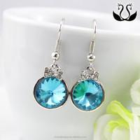 China Good Quality Alloy Crystal Diamond Huggie Earrings