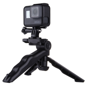 PULUZ Grip Folding Digital Cameras Tripod Mount with Adapter & Screws for Go Pro Load Max: 2kg