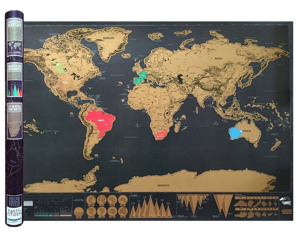 Cheap vancouver world map find vancouver world map deals on line at gooday deluxe travel edition scratch off world map poster personalized journal log gift324 x gumiabroncs Choice Image