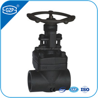 Carton steel JIS B2083 10K 20K rising stem Gate Valve with pneumatic actuator