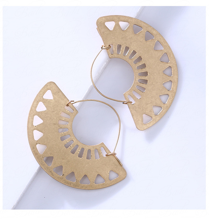 HTB1zUX5b.o09KJjSZFDq6z9npXaP - Badu Big Hollow Hoop Earring Semi-circle Vintage Declaration Ethnic Earrings Geometry Fashion Jewelry Punk Girl