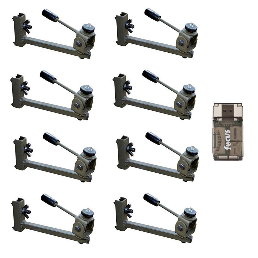 HME Products Better Trail Camera Holder 8-Pack: Screws Into Trees, Rotates 360 Degrees, Tilts Up and Down