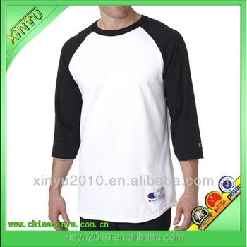 Wholesale Two Color Long Sleeve Cotton Baseball T Shirt - Buy ...