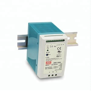 Mean Well Single Output with Battery Charger UPS Function DRC-100B 100W 27.6V DIN RAIL Power Supply
