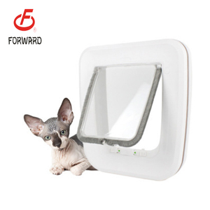 PVC Dog Door Pet Door Cat Flap Door With 4 Way Locking Pet Dog Gate